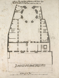 A ground plan of the College of Physicians in Warwick Lane London built after the Great Fire in 1666 presented to the President and Fellows